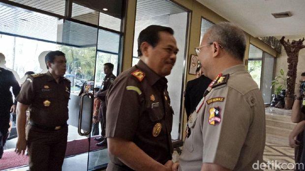 Jaksa Agung M Prasetyo di lokasi Rakernis Bareskrim, Selasa (6/3/2018)