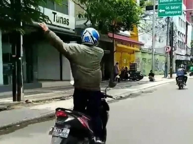 Polisi Temukan Pria yang Viral Joget di Motor saat Berkendara