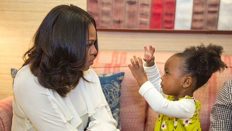 Michelle Obama dan Parker, fans ciliknya/ Foto: Instagram Michelle Obama