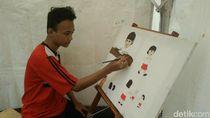 Anak Berkebutuhan Khusus Asal Garut ini Bisa Bikin Lukisan yang Indah