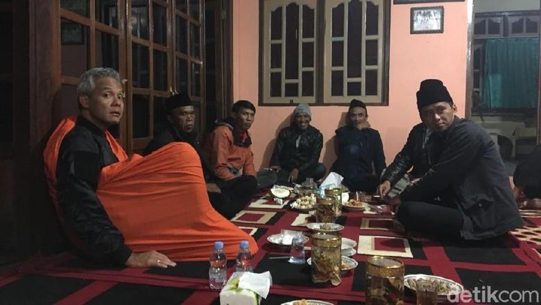Nostalgia, Ganjar Menginap di Dusun Tertinggi Lereng Gunung Sumbing