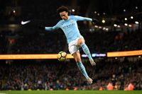Leroy Sane, yang menjadi pemain andalan manchester City musim ini (Laurence Griffiths/Getty Images)