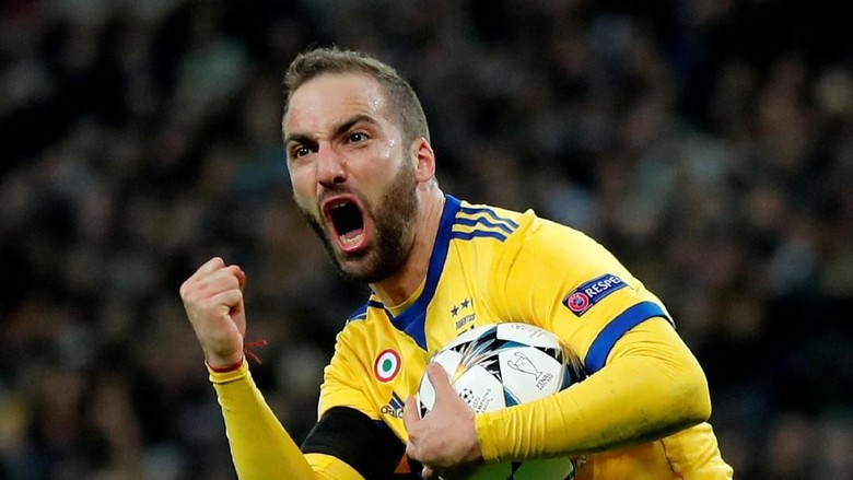 Gonzalo Higuain, penyerang Juventus (Eddie Keogh/REUTERS)