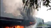 SPBU di SIER Terbakar, 1 Orang Tewas dan 1 Truk Ludes Dilalap Api