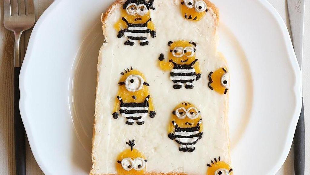 Kreatif! Roti Panggang Ini Dihiasi dengan Bunga hingga Minion Lucu