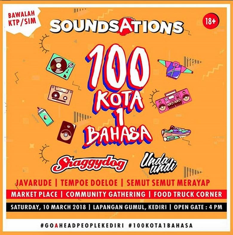 100 Kota 1 Bahasa, Soundsations 2018 Jadi Ajang Silaturahmi Musisi
