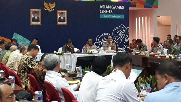 JK Bahas Prestasi Asian Games Bersama CdM dan Cabor