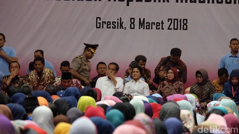 Di Depan Iriana dan Para Ibu, Jokowi Ucapkan Selamat Hari Perempuan