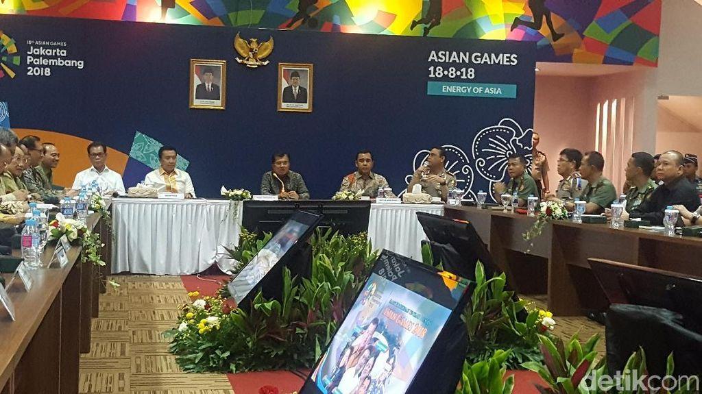 Wapres JK Hadiri Rapat Asian Games 2018 di Sekretariat CDM