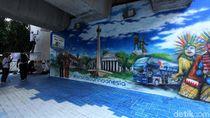 Cantik! Mural di Tiang JLNT Antasari