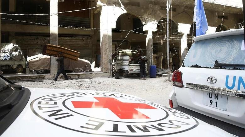 Gempuran Berlanjut, Suplai Makanan Berhasil Tiba di Ghouta Timur