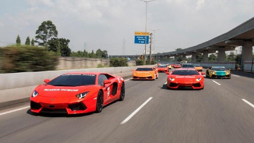 Turing Komunitas Lamborghini dengan Insiden Tabrakan di Tol Cipali