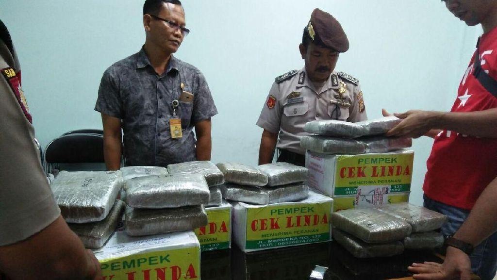 Petugas Bandara Palembang Gagalkan Penyelundupan 20 Kg Ganja