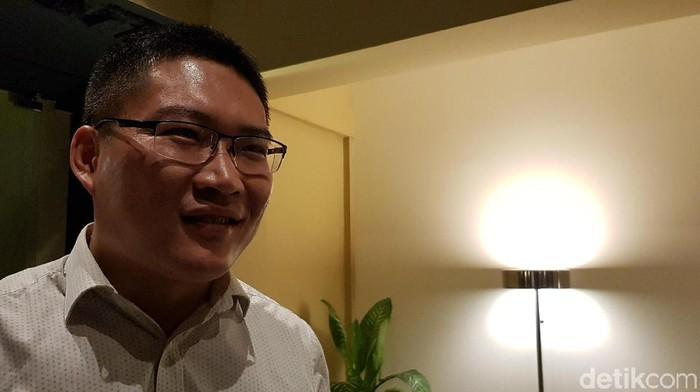 James Yang, Presiden Honor Indonesia (detikINET/Achmad Rouzni Noor II)