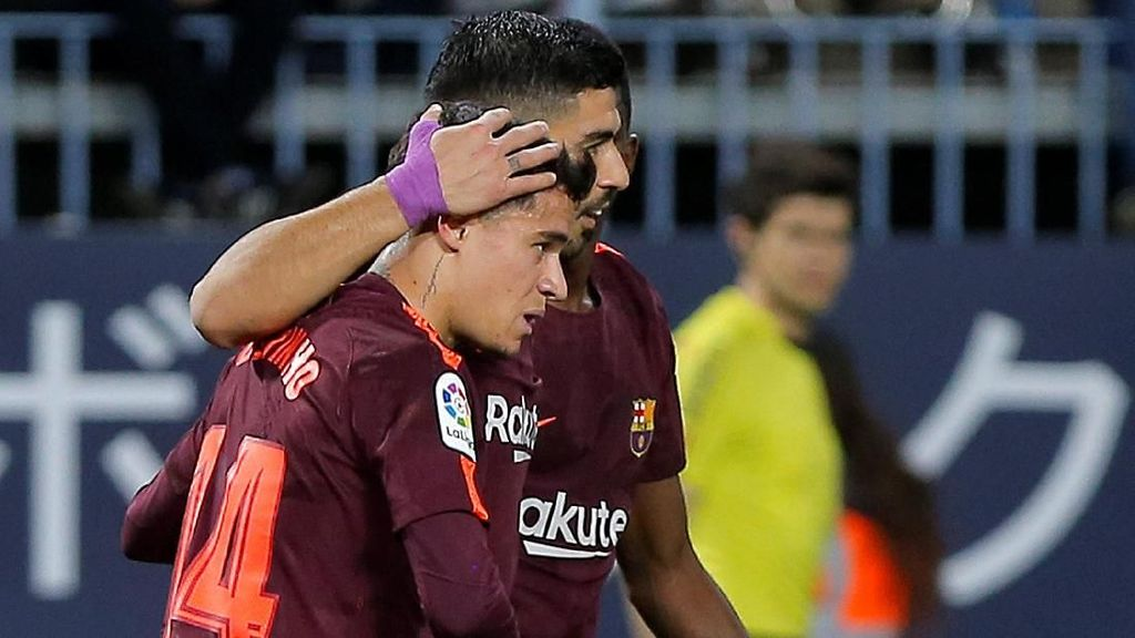 Foto: Messi Absen, Suarez-Coutinho Menangkan Barcelona