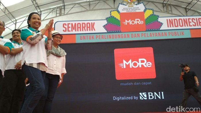 Peluncuran MoRe BNI di Singapura/Foto: Hendra Kusuma