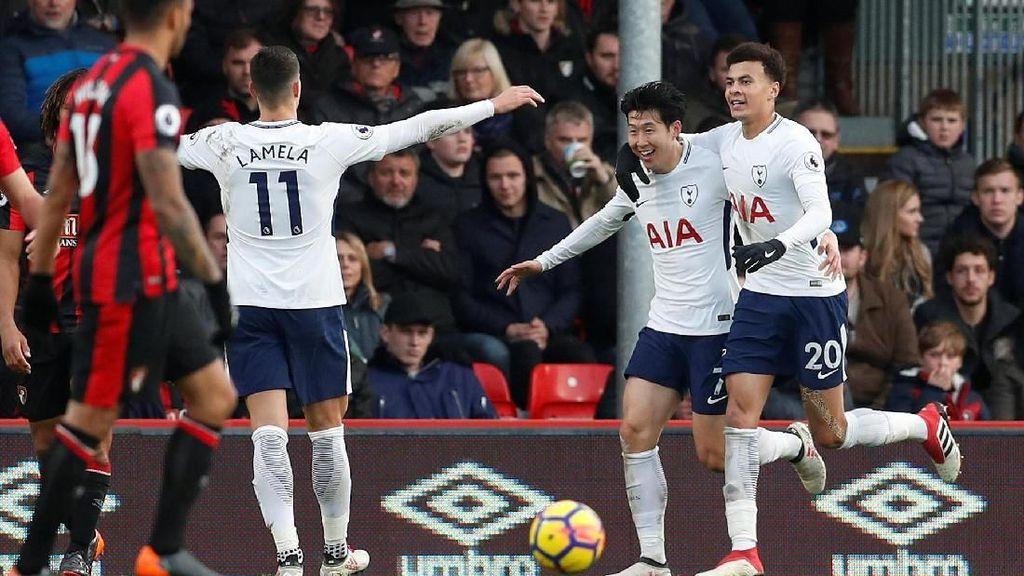 Tertinggal Lebih Dulu, Spurs Tundukkan Bournemouth 4-1