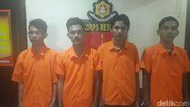 Keroyok dan Bacok Arifin Pakai Taring Babi, 4 Pemabuk Ditangkap