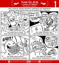 Komik 'Ga Jelas' Kembangkan Alur sampai Karakter