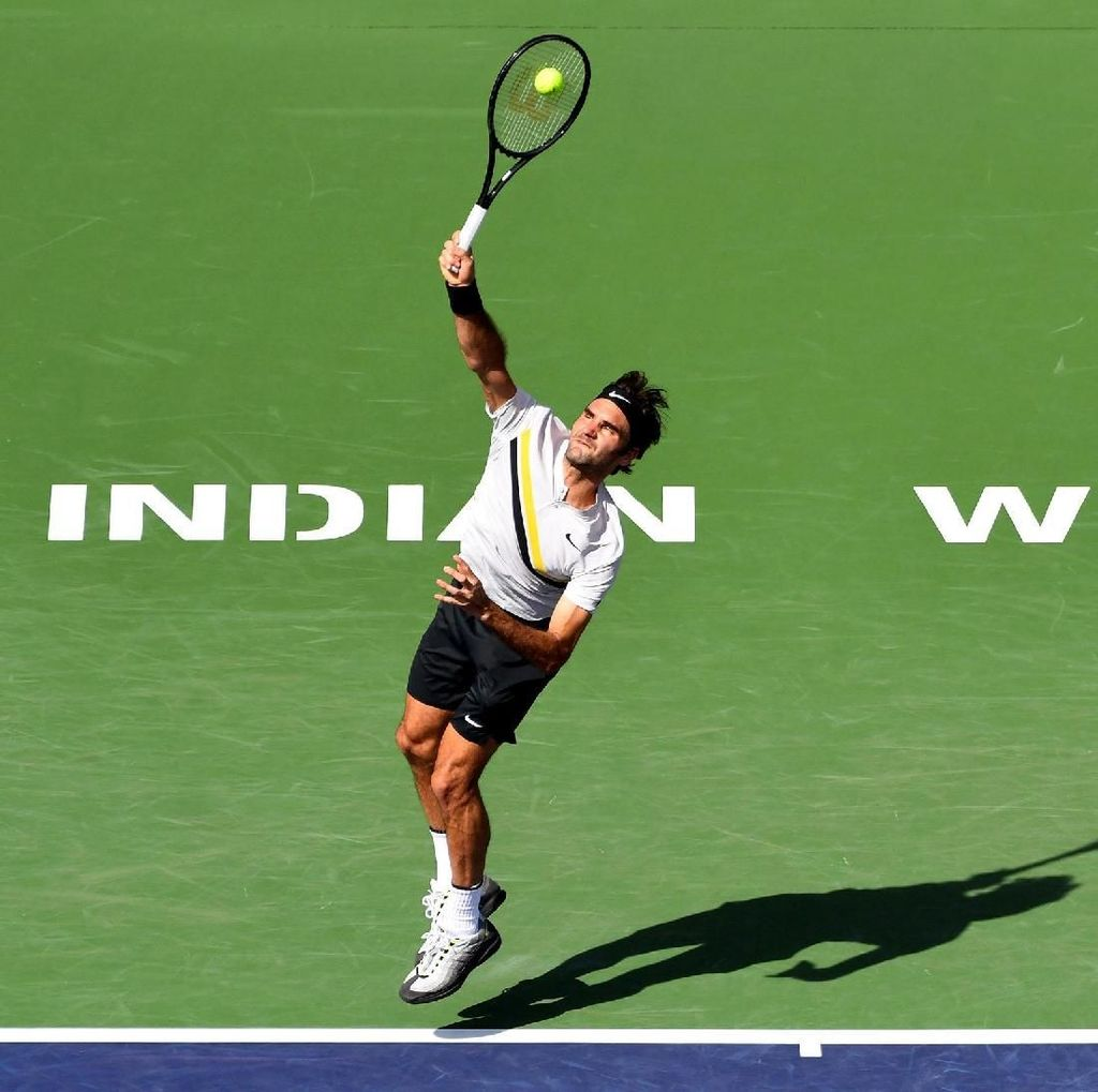 Kalahkan Krajinovic, Federer ke Babak 16 Besar Indian Wells