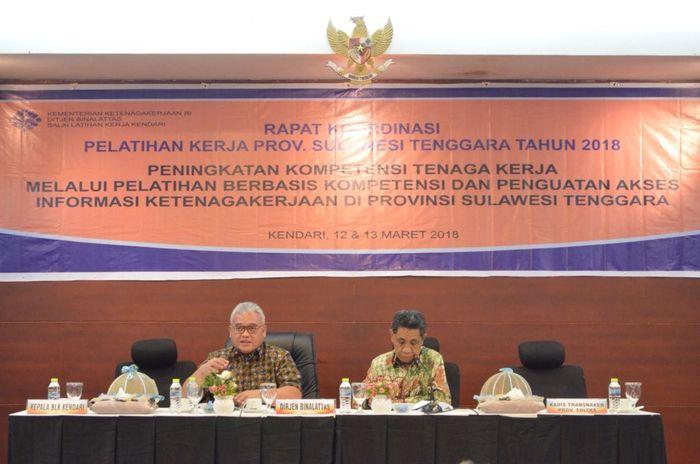 Foto: Rapat Koordinasi (Rakor) Pelatihan Kerja Wilayah Provinsi Sulawesi Tenggara Tahun 2018 di Kendari (Dok. Kemnaker)