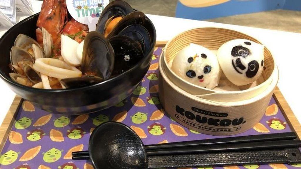 Mencicipi Dumpling Kung Fu Panda dan Madagascar yang Menggemaskan di Kafe Ini