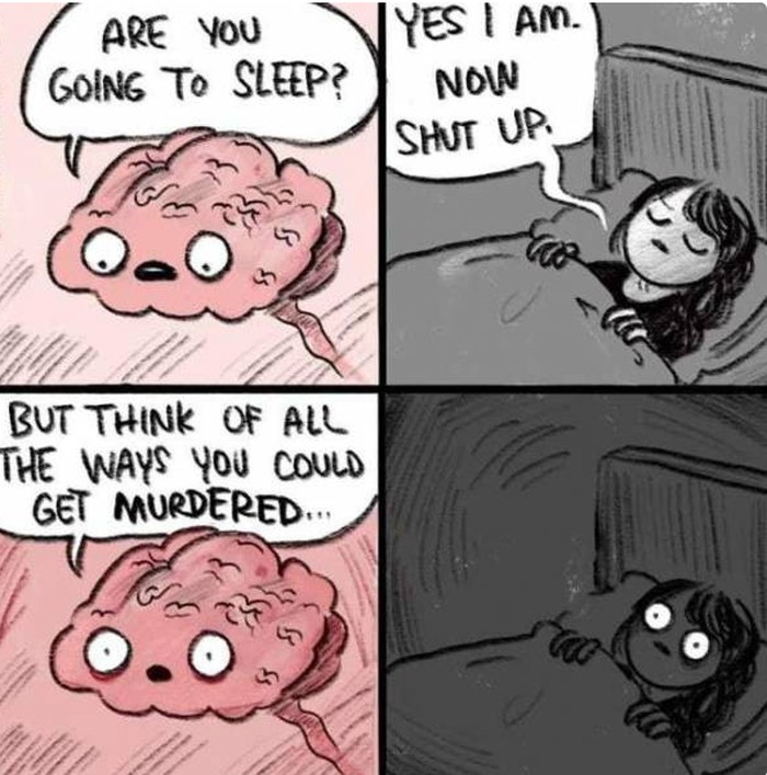 Terkadang, sulit tidur juga datang dari rasa cemas yang menghantui. Apabila ini sudah mengganggu kualitas tidurmu dalam jangka yang cukup panjang, jangan sungkan untuk mengonsultasikan pada pakar. (Foto: Internet)