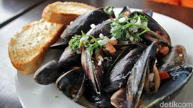 Kuliner kerang di The Little Mussel Cafe (Randy/detikTravel)