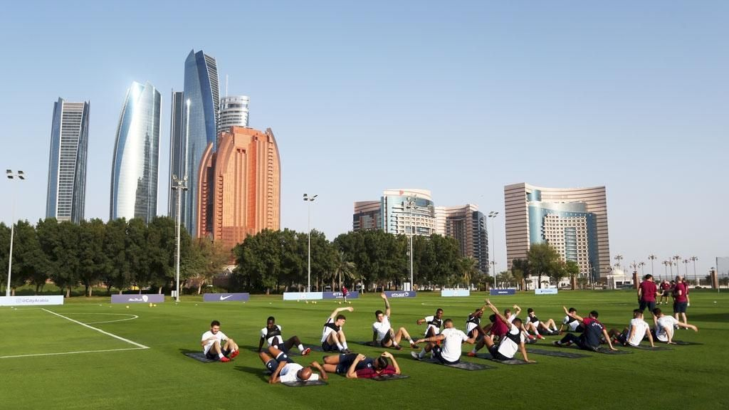 Latihan Santai City di Bawah Hangatnya Matahari Abu Dhabi