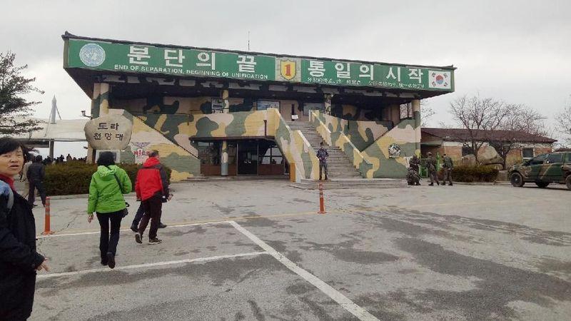 Demilitarized Zone (DMZ) merupakan perbatasan Korea Selatan dan Korea Utara, yang memotong Semenanjung Korea tepat di bagian tengah sepanjang 250 km (Amalia Dwi Septi/detikTravel)