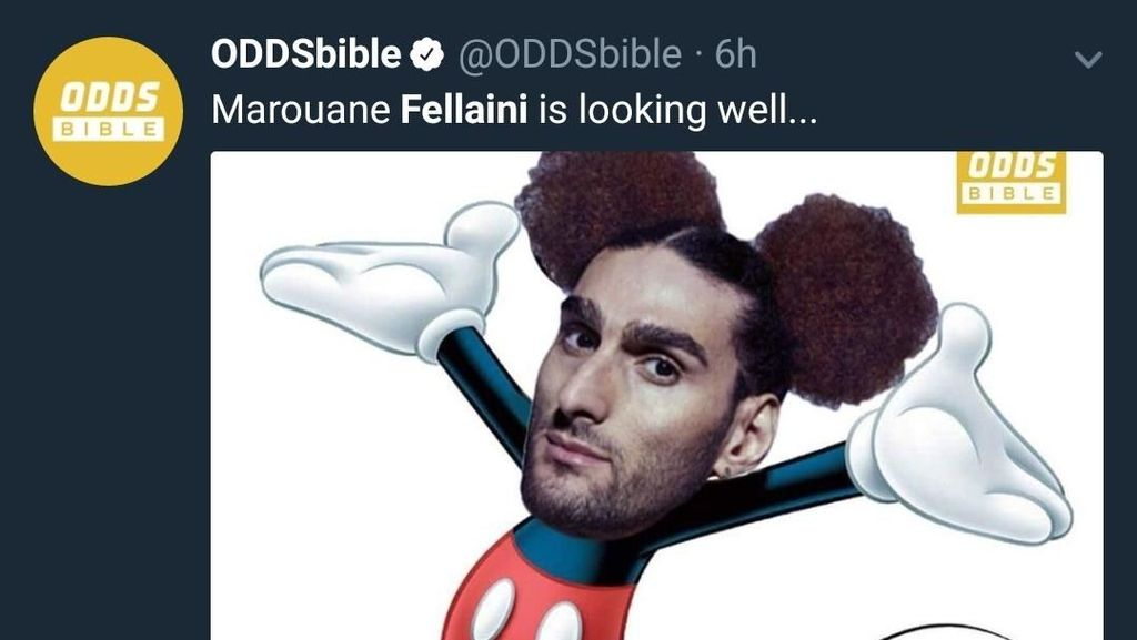 Gaya Rambut Marouane Mickey Mouse Fellaini Bikin Ngakak