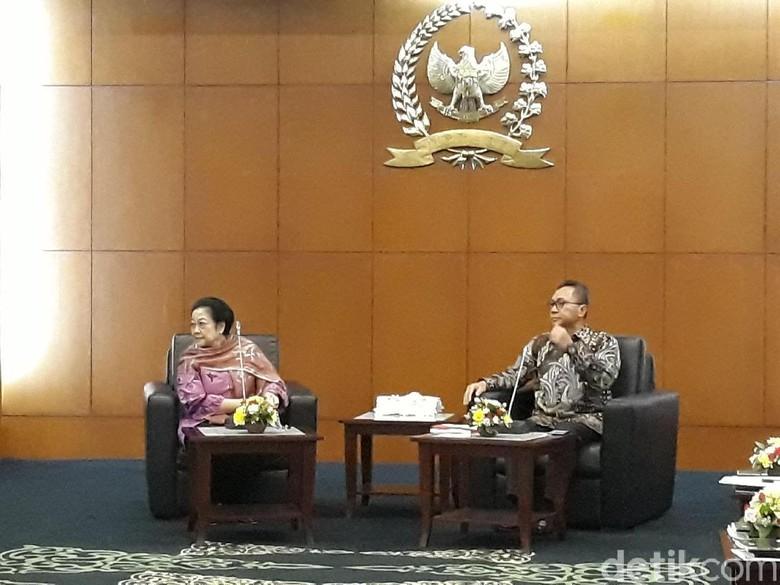 Megawati dan Zulkifli Hasan Gelar Pertemuan Tertutup di MPR