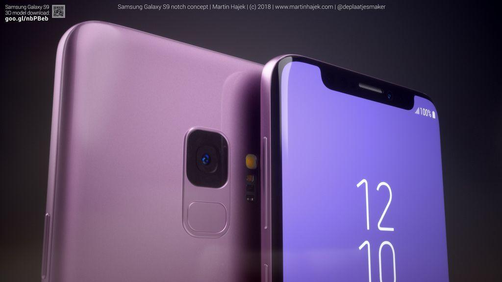 Usai MWC 2018 digelar, beragam ponsel yang memiliki notch bermunculan. Mungkin hal itu yang menginspirasi Martin Hajek untuk mengaplikasikannya ke Galaxy S9. Foto: Phone Arena/Martin Hajek