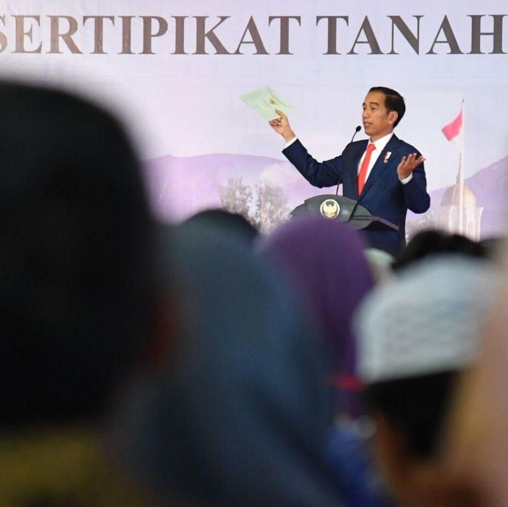 Soal Alasan Jokowi Bagikan Sertifikat Tanah sejak 2016