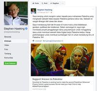 Facebook Stephen Hawking.
