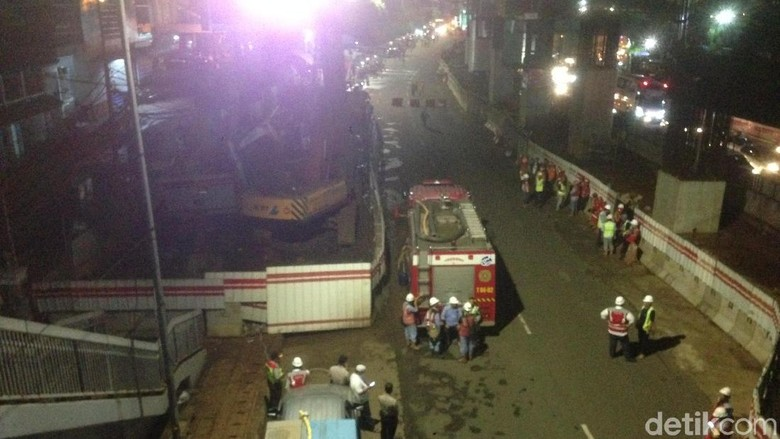 Pipa Gas PGN Depan BNN Kembali Bocor, Petugas Damkar Siaga