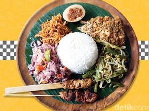 Warna-warni Lezatnya Sepiring Nasi Campur Khas Bali