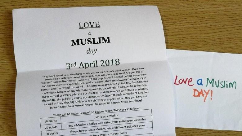Balasan Surat Ajakan Serang Muslim di Inggris: Love Muslim Day