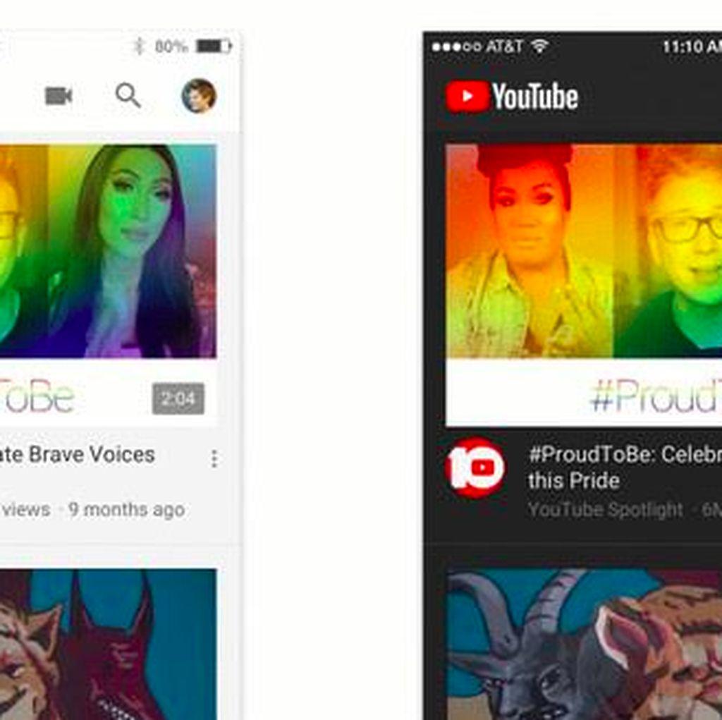 YouTube di iOS Kini Bisa Berlatar Gelap
