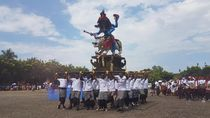 Ogoh-ogoh dari 6 Banjar di Banten Diarak Keliling Kota