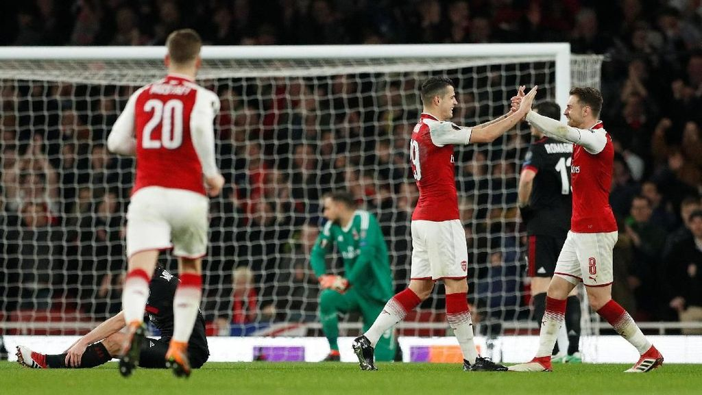 Bekap Milan 3-1, Arsenal Pastikan Lolos ke Perempatfinal