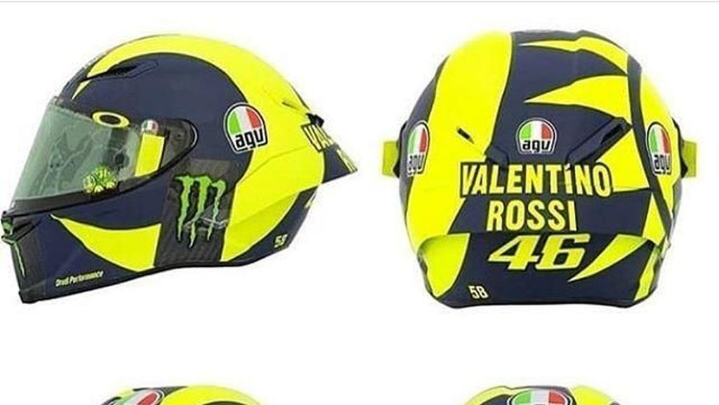 Cerita di Balik Desain Baru Helm Valentino Rossi