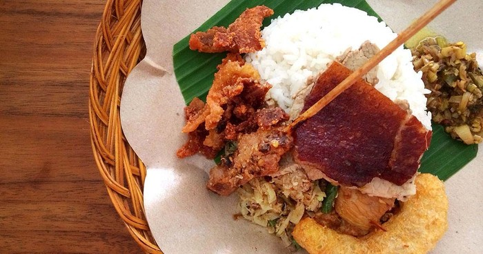 Warung makan babi guling enak di Pulau Dewata