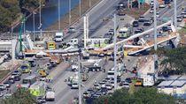 Wujud Jembatan di Florida Sebelum Ambruk ke Jalan