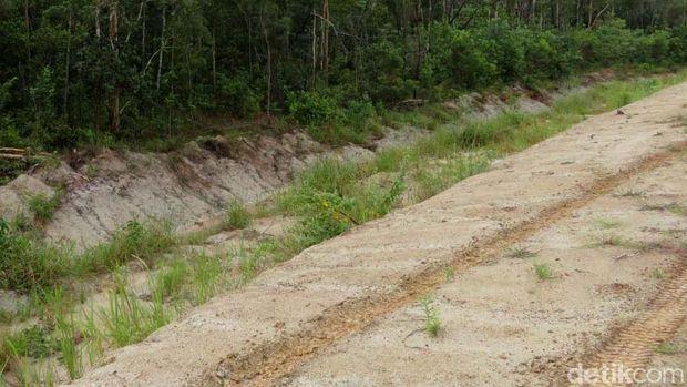 Penampakan jalan Trans Papua Rusak