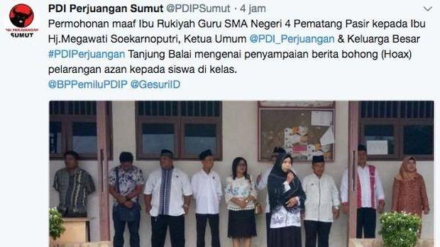 Mega Diserang Hoax Larangan Azan, PDIP: Masyarakat Harus Pandai