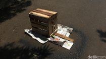 Bercak Darah Korban di Proyek Rusun Pasar Rumput Ditutup Koran