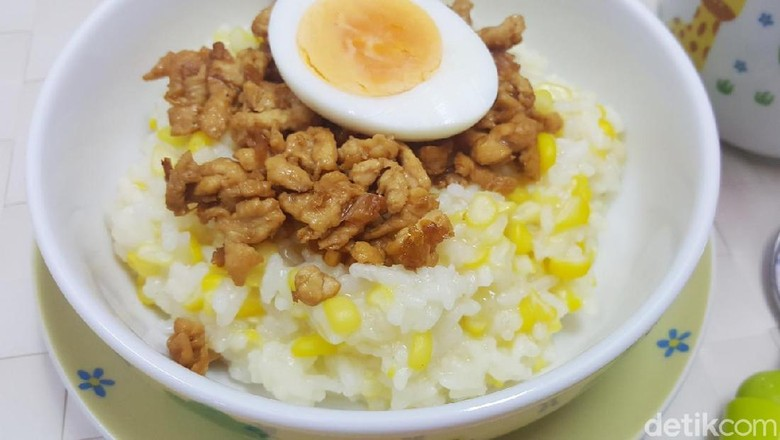 Ajak si Kecil Bikin Bubur Jagung Ayam Cincang Yuk, Bun/ Foto: detikfood
