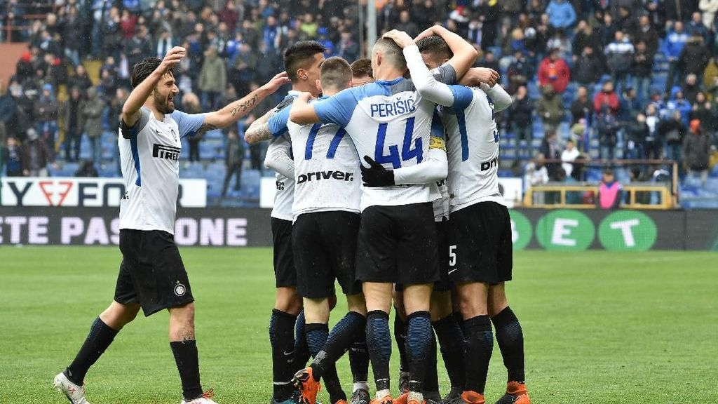 Inter Menang Telak karena Tak Beri Sampdoria Kesempatan