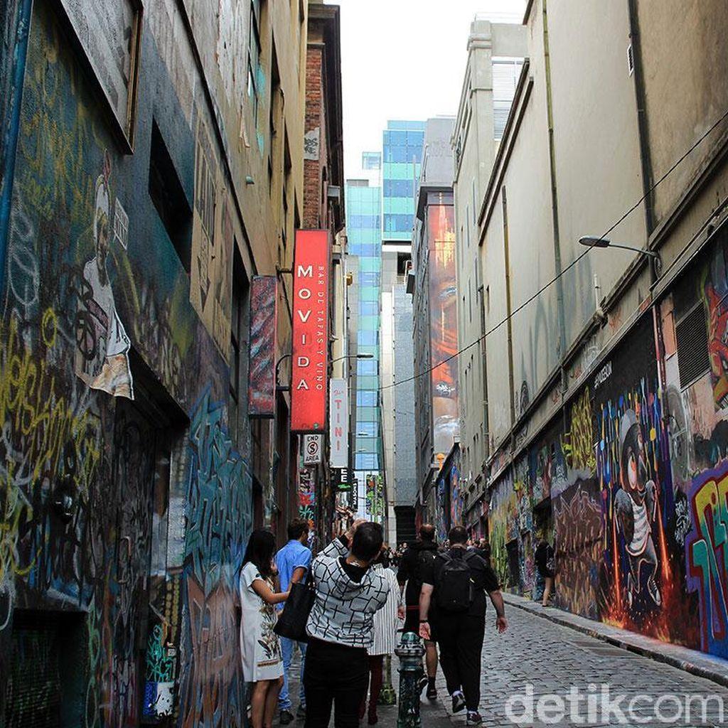 Foto: Liburan ke Melbourne, Berwisata Unik Nikmati Grafiti
